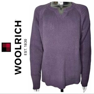 Woolrich Long Sleeve Knit Pullover Mauve Sweater